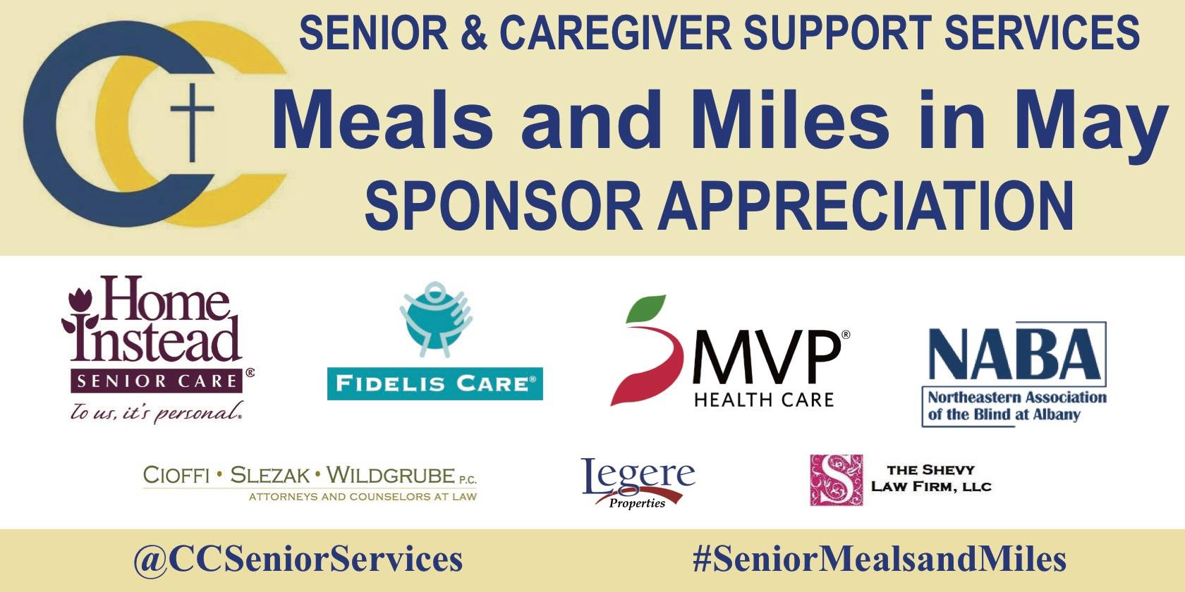 Catholic Charities Senior & Caregiver Support Services (CCSCSS) is the Meals on Wheels provider for the senior population in Schenectady County.
